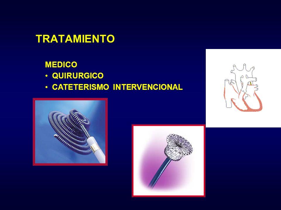 MEDICO QUIRURGICO CATETERISMO INTERVENCIONAL TRATAMIENTO
