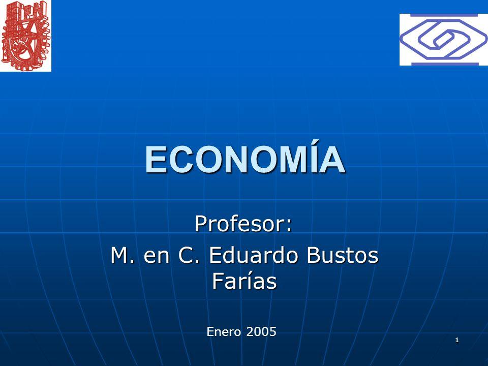 1 ECONOMÍA Profesor: M. en C. Eduardo Bustos Farías Enero 2005