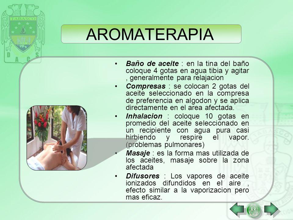 AROMATERAPIA La aromatoterapia utiliza las esencias aromáticas naturales que se encuentran en los vegetales (flores, frutos, hojas, tronco), los conce