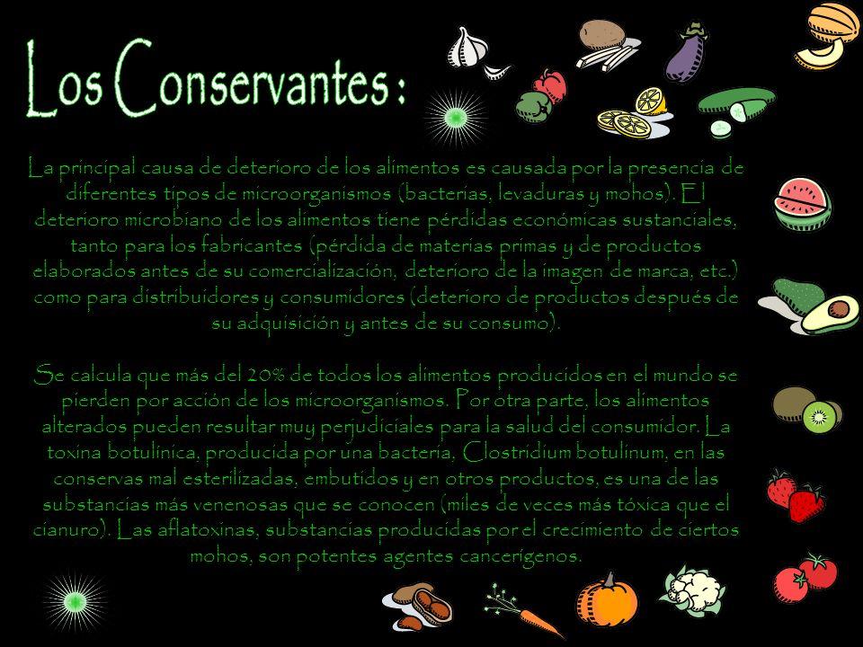 La principal causa de deterioro de los alimentos es causada por la presencia de diferentes tipos de microorganismos (bacterias, levaduras y mohos). El