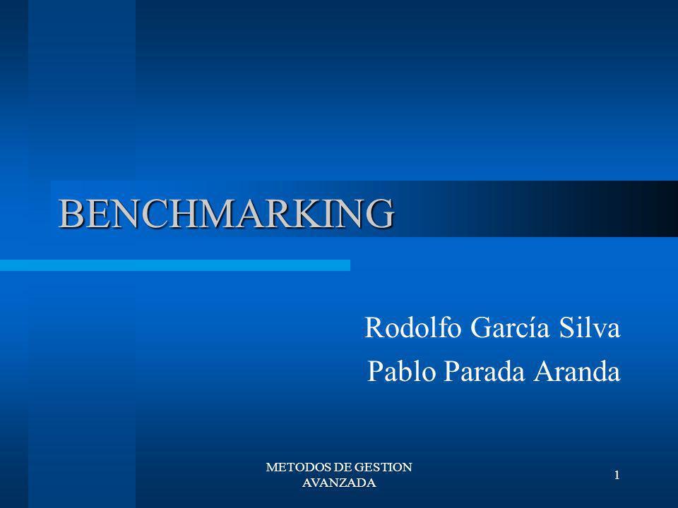 METODOS DE GESTION AVANZADA 12 PROCESO DE BENCHMARKING DE ROBERT C.