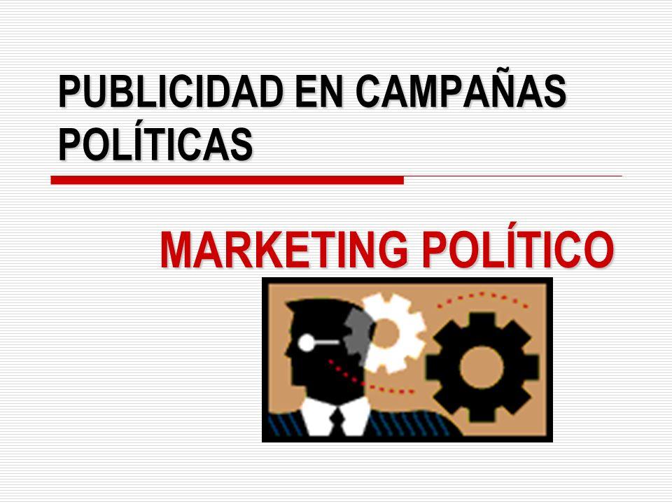 PUBLICIDAD EN CAMPAÑAS POLÍTICAS MARKETING POLÍTICO