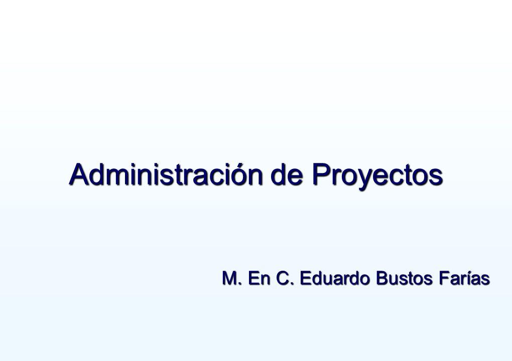 1 Administración de Proyectos M. En C. Eduardo Bustos Farías