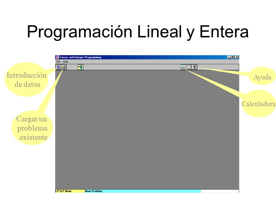 Ejemplo implementado en el Módulo 10 : Linear and Integer Programming