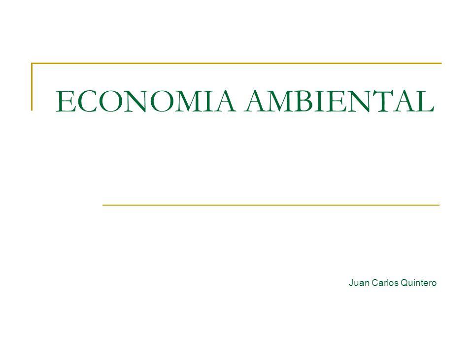 ECONOMIA AMBIENTAL Juan Carlos Quintero