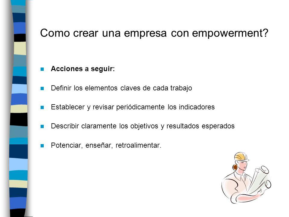 Como crear una empresa con empowerment.