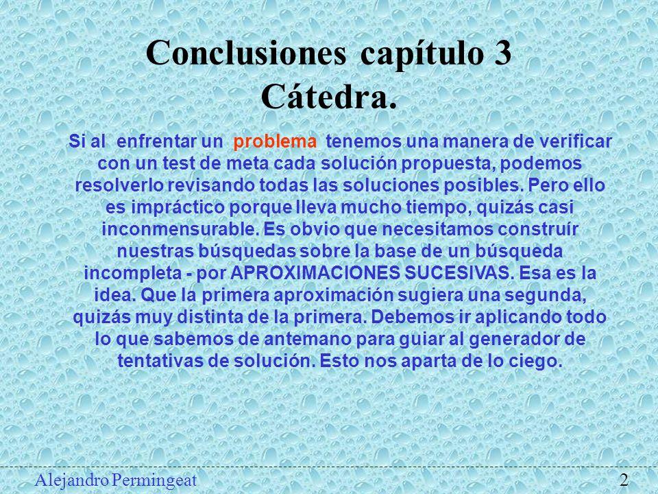Conclusiones capítulo 3 Cátedra.