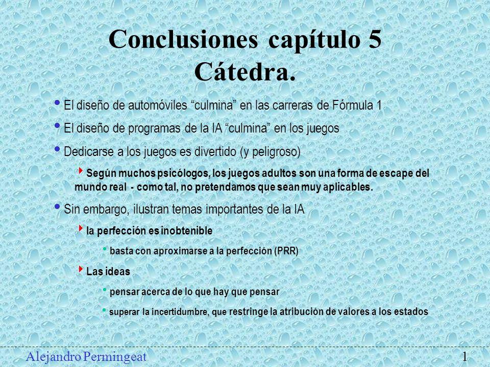 Conclusiones capítulo 5 Cátedra.