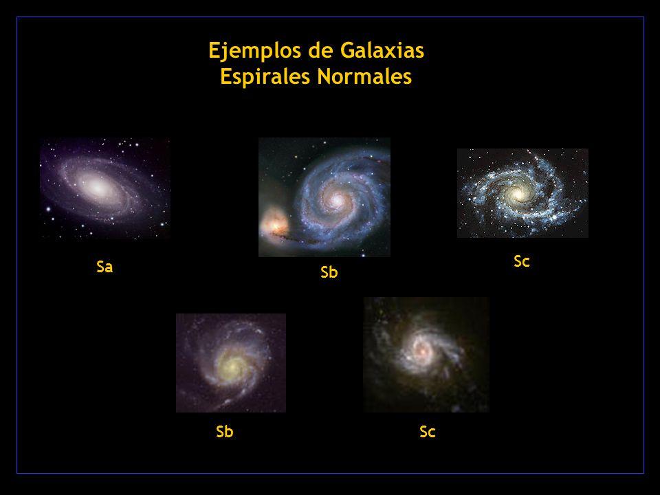 Ejemplos de Galaxias Espirales Normales Sa Sb Sc Sb