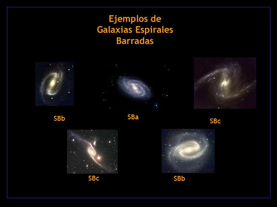 Ejemplos de Galaxias Espirales Barradas SBa SBb SBc SBb SBc