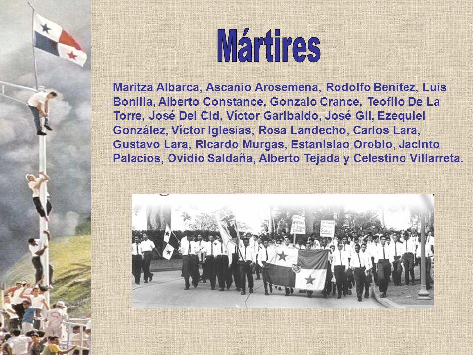 Maritza Albarca, Ascanio Arosemena, Rodolfo Benitez, Luis Bonilla, Alberto Constance, Gonzalo Crance, Teofilo De La Torre, José Del Cid, Víctor Gariba