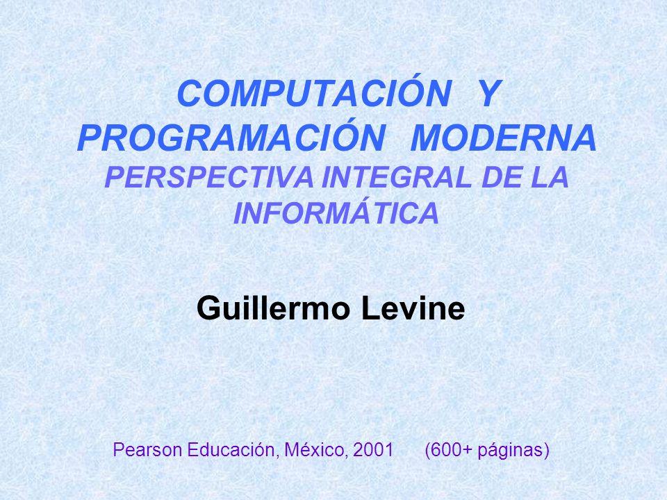 2 Introducción general a las ciencias de la computación Para diversas carreras de informática, compu- tación, ciencias o ingeniería.