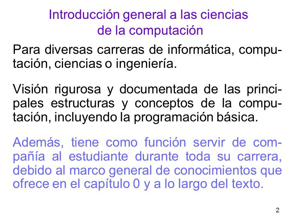 3 Marco general de conocimientos Capítulo 0: Modelos curriculares ANIEI ANIEI: Asociación Nacional de Instituciones de Educación en Informática.