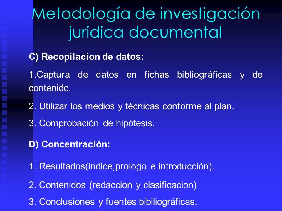 Metodología de investigación juridica documental B) Programación, selección y medios para obtener contenidos de cada tema y subtema: 1.Guión inicial y