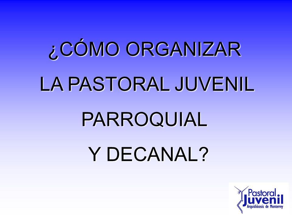 Departamento Diocesano de PJ Coordina y asesora la Pastoral Juvenil Diocesana Promueve nuevos proyectos Sirve ofreciendo cursos, apoyos y asesorías a decanatos y parroquias.