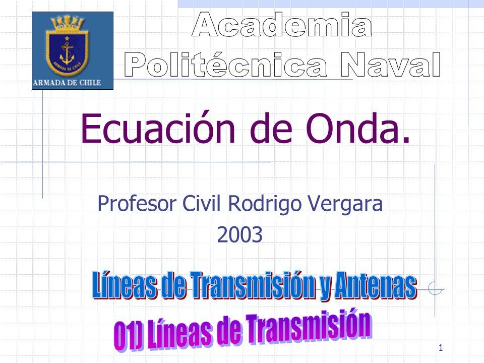 1 Ecuación de Onda. Profesor Civil Rodrigo Vergara 2003
