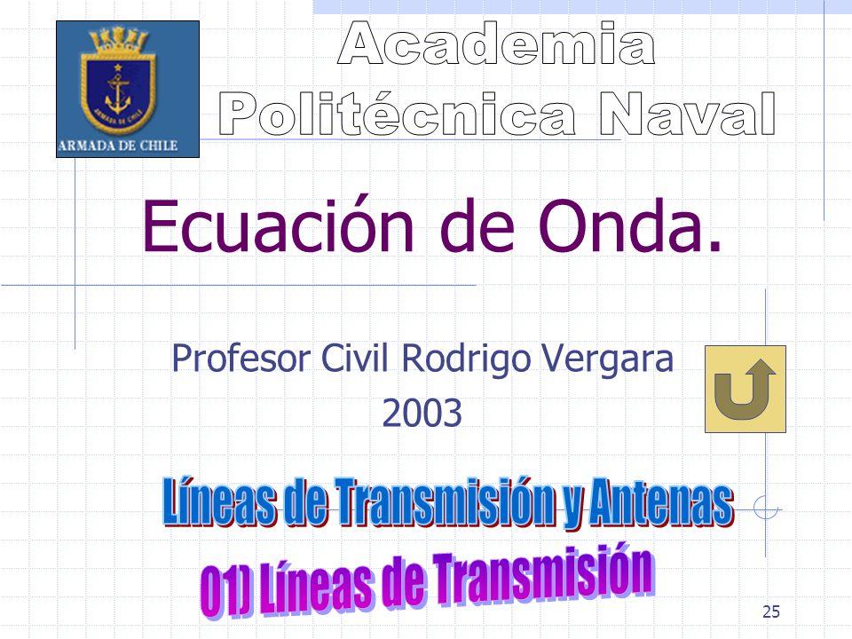 25 Ecuación de Onda. Profesor Civil Rodrigo Vergara 2003