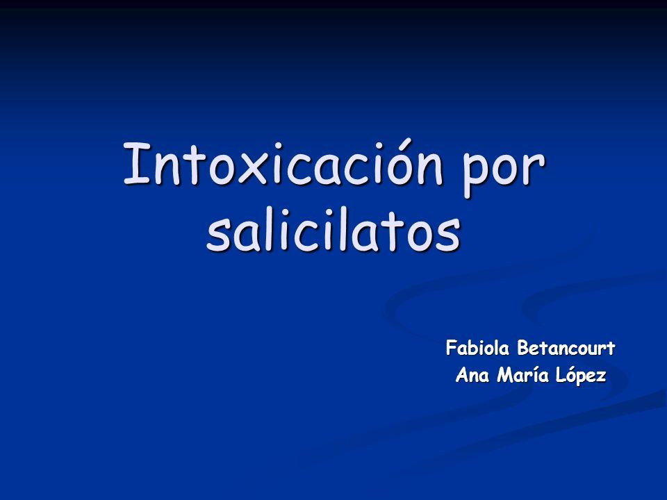 Intoxicación por salicilatos Fabiola Betancourt Ana María López