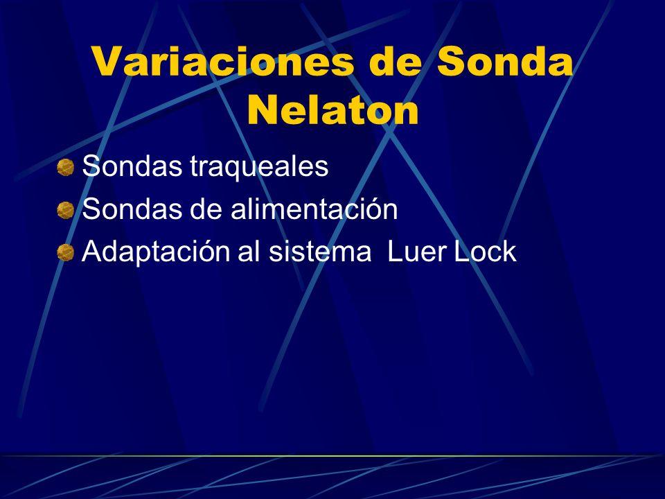 Variaciones de Sonda Nelaton Sondas traqueales Sondas de alimentación Adaptación al sistema Luer Lock