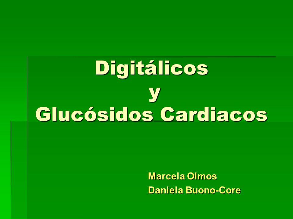 Digitálicos y Glucósidos Cardiacos Marcela Olmos Marcela Olmos Daniela Buono-Core Daniela Buono-Core