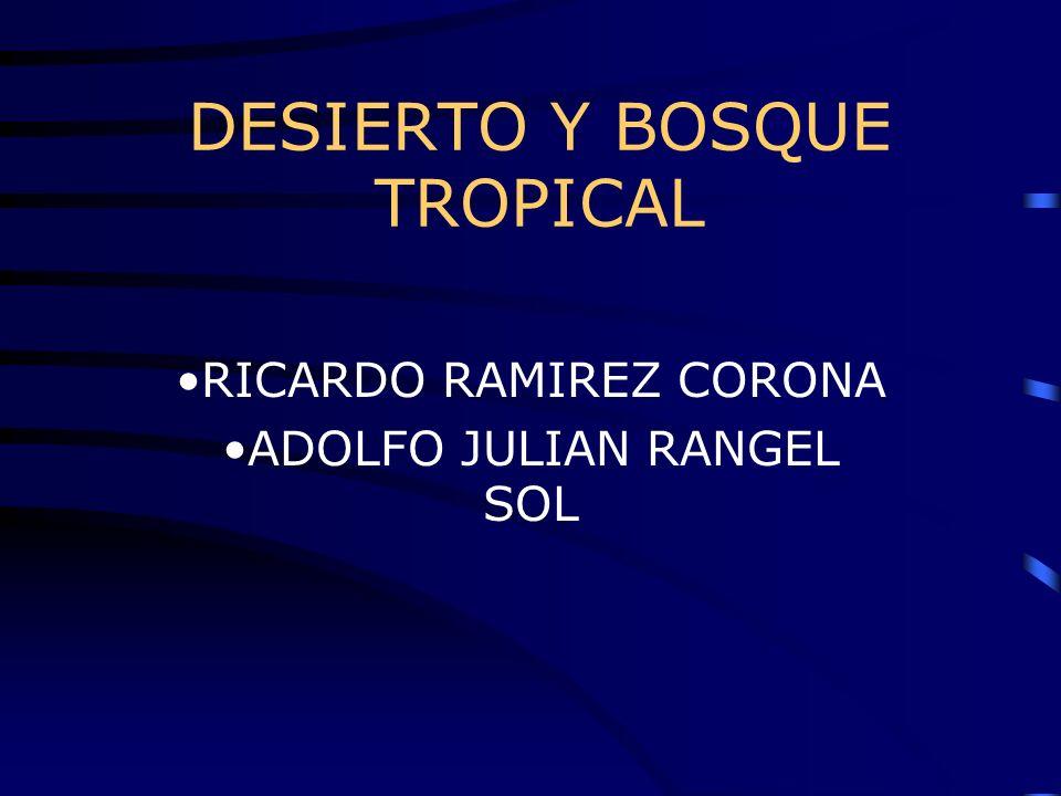 DESIERTO Y BOSQUE TROPICAL RICARDO RAMIREZ CORONA ADOLFO JULIAN RANGEL SOL