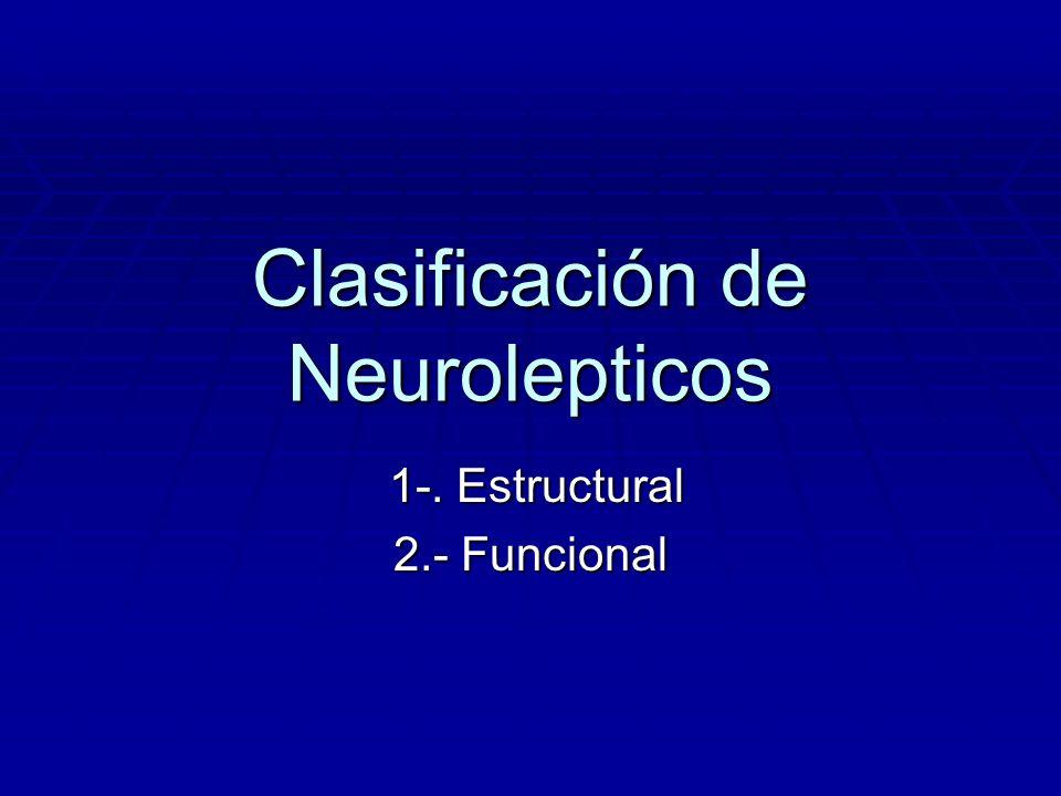 Clasificación de Neurolepticos 1-. Estructural 1-. Estructural 2.- Funcional