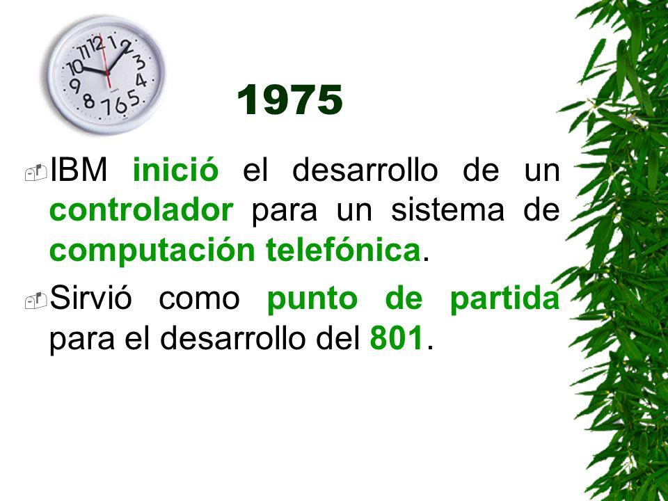 1975 IBM inició el desarrollo de un controlador para un sistema de computación telefónica. Sirvió como punto de partida para el desarrollo del 801.