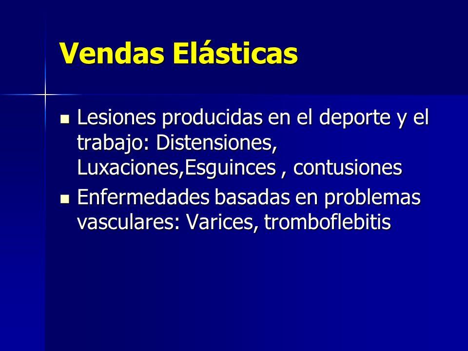 Vendas Elásticas Lesiones producidas en el deporte y el trabajo: Distensiones, Luxaciones,Esguinces, contusiones Lesiones producidas en el deporte y e