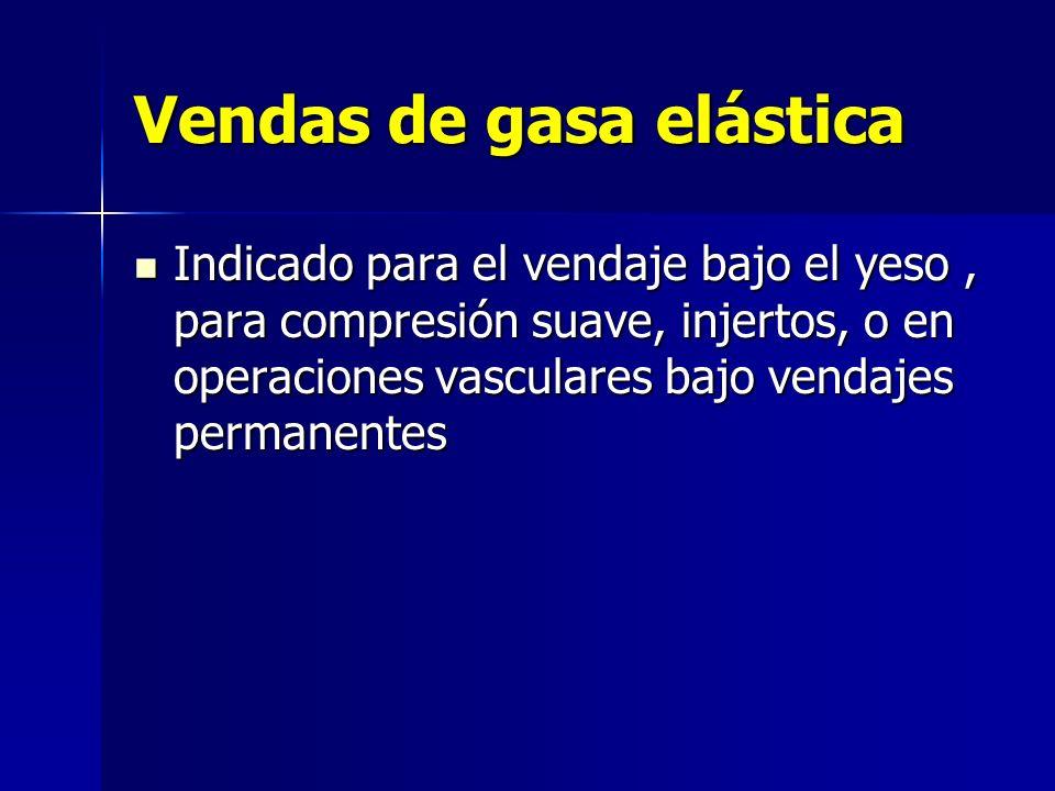 Vendas de gasa elástica Indicado para el vendaje bajo el yeso, para compresión suave, injertos, o en operaciones vasculares bajo vendajes permanentes