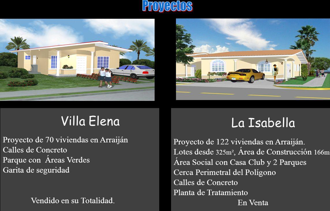 La Isabella Proyecto de 122 viviendas en Arraiján. Lotes desde 325m², Área de Construcción 166m². Área Social con Casa Club y 2 Parques Cerca Perimetr