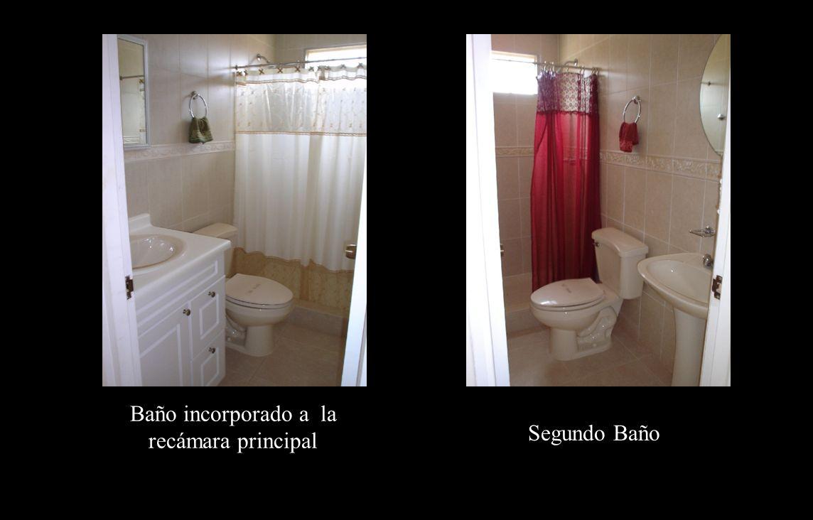Baños Baño incorporado a la recámara principal Segundo Baño