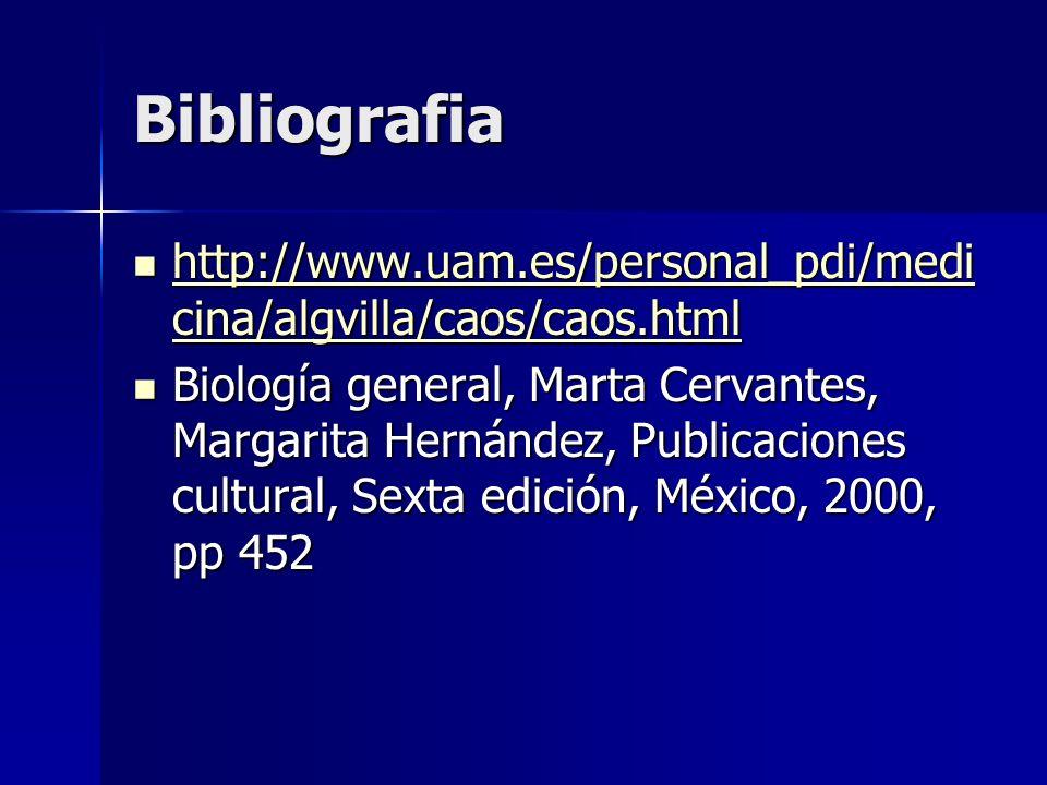 Bibliografia http://www.uam.es/personal_pdi/medi cina/algvilla/caos/caos.html http://www.uam.es/personal_pdi/medi cina/algvilla/caos/caos.html http://