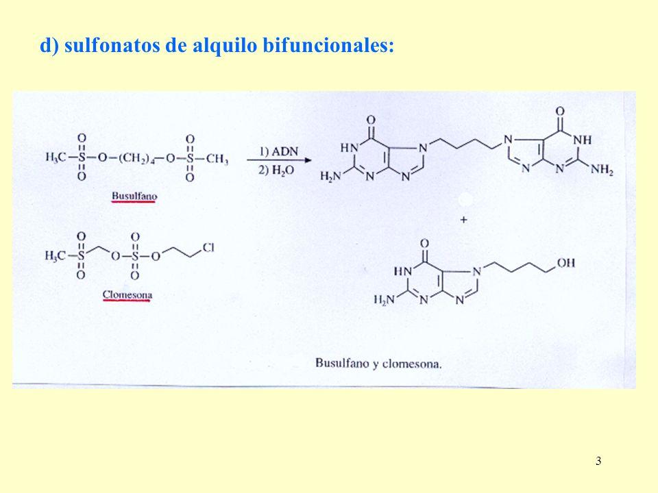 3 d) sulfonatos de alquilo bifuncionales:
