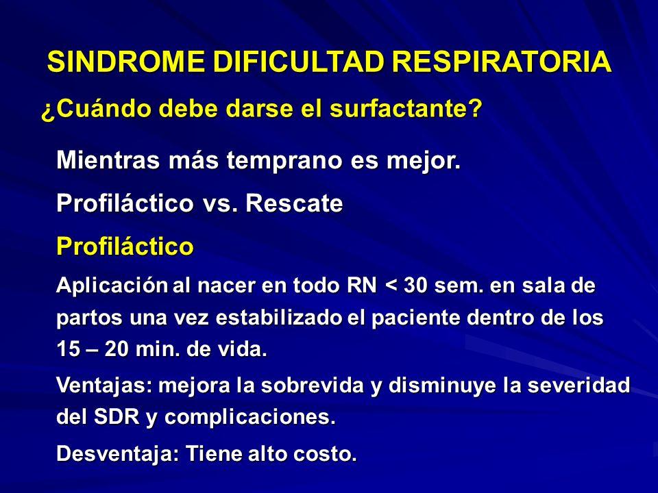 RADIOLOGIA (Post surfactante 2da dosis) SINDROME DIFICULTAD RESPIRATORIA