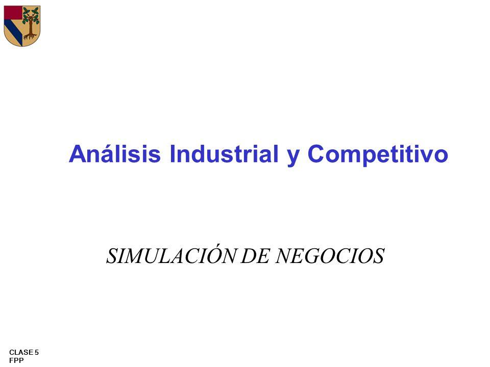 CLASE 5 FPP Análisis Industrial y Competitivo SIMULACIÓN DE NEGOCIOS