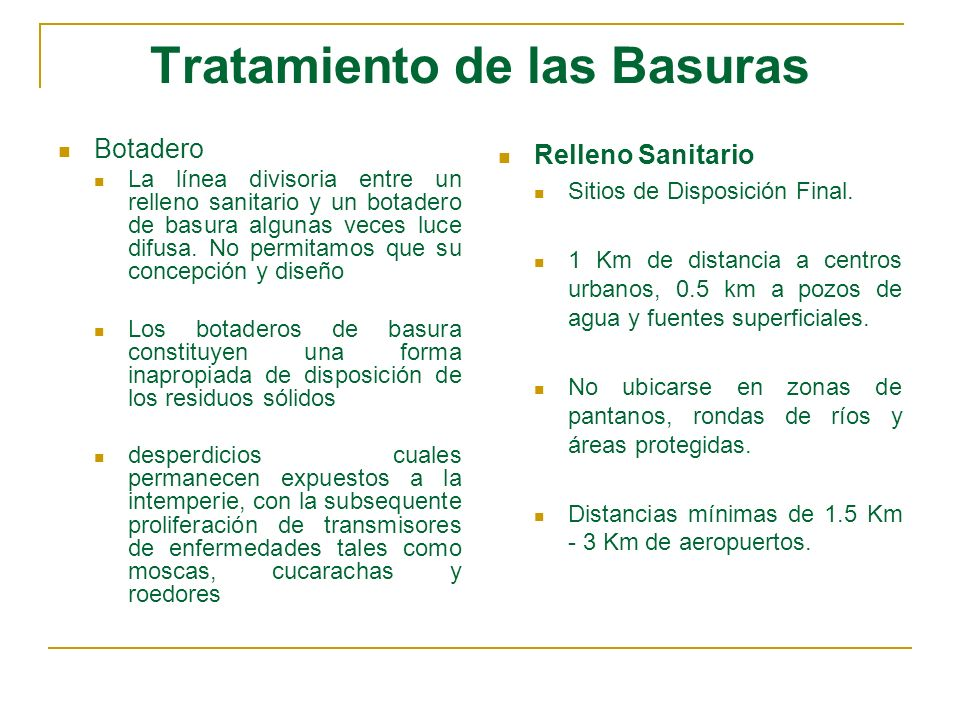 Residuos Sólidos en Colombia Mas de 700 municipios disponen sus residuos en forma inadecuada en botaderos a cielo abierto, causando graves problemas sanitarios y ambientales.