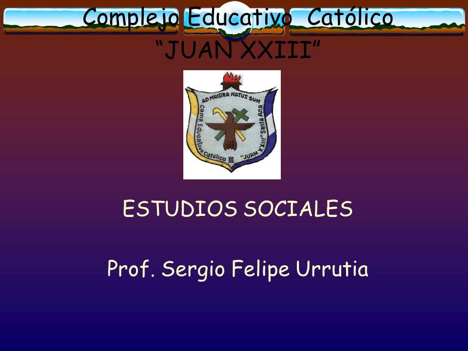 Complejo Educativo Católico JUAN XXIII ESTUDIOS SOCIALES Prof. Sergio Felipe Urrutia