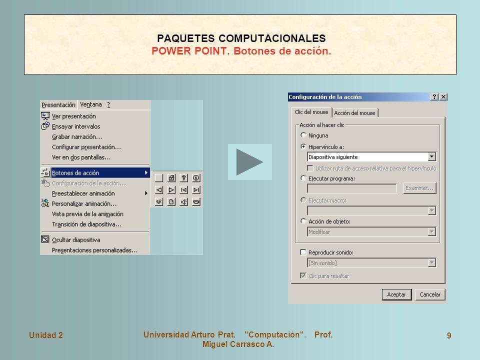 Unidad 2 Universidad Arturo Prat. Computación . Prof.