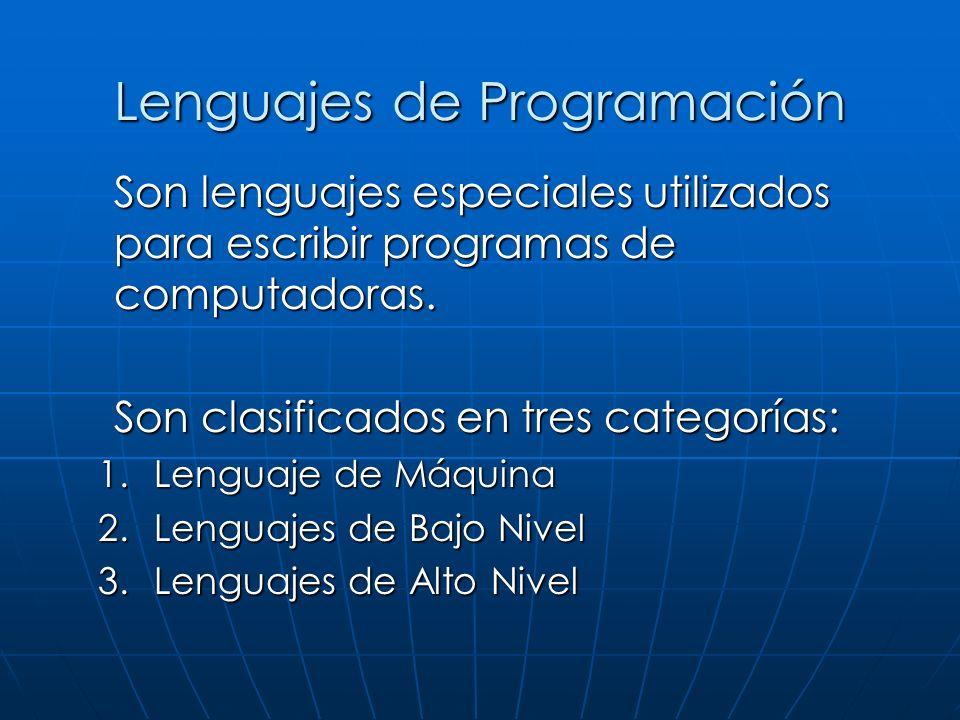 Son lenguajes especiales utilizados para escribir programas de computadoras.