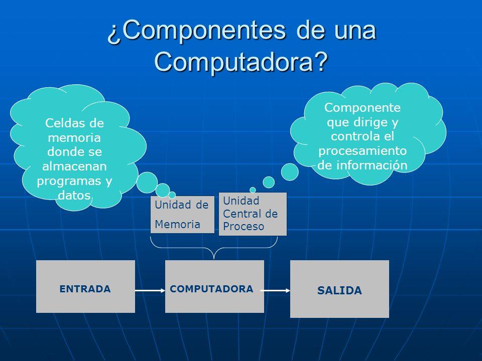 ¿Componentes de una Computadora.