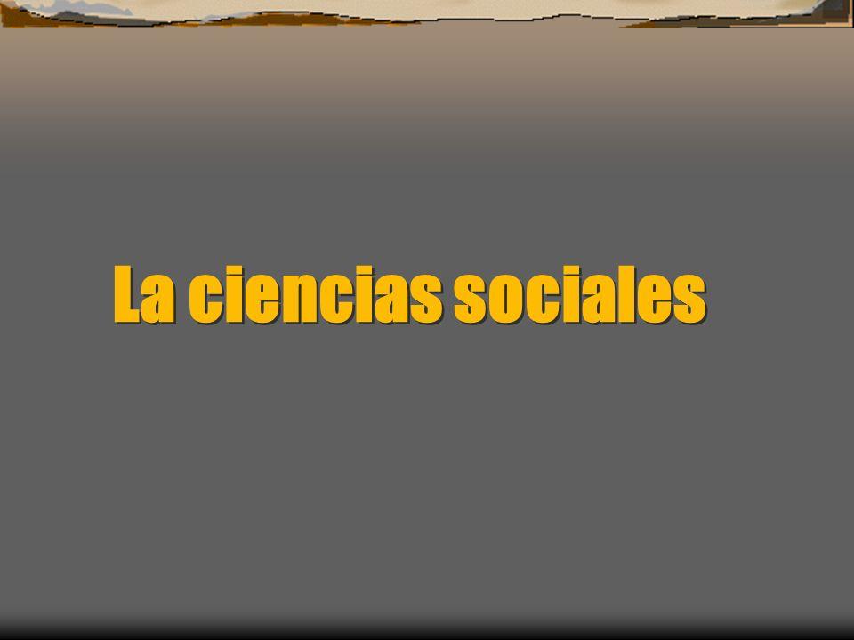 La ciencias sociales