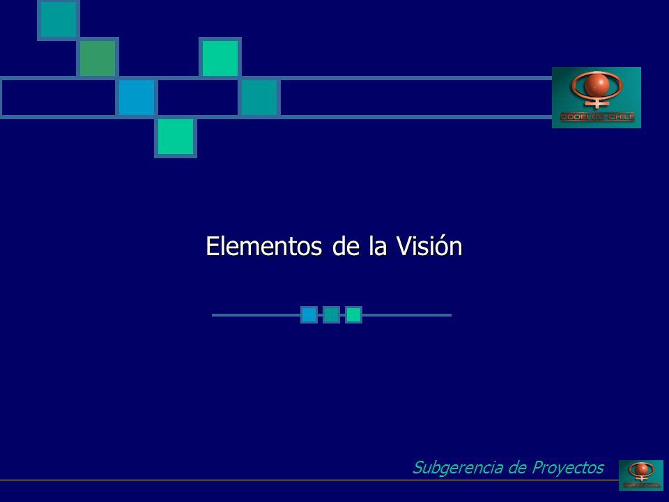 Elementos de la Visión Subgerencia de Proyectos