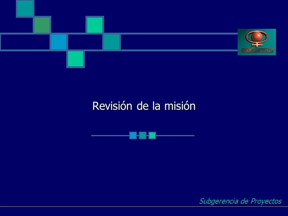 Revisión de la misión Subgerencia de Proyectos