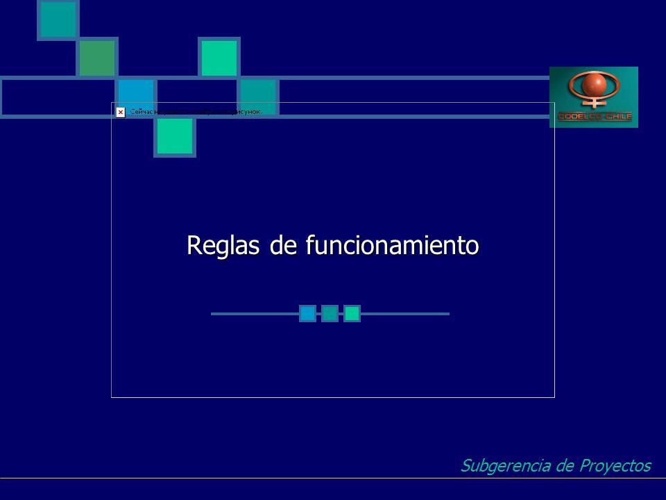 Reglas de funcionamiento Subgerencia de Proyectos