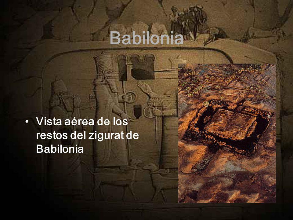 Babilonia Vista aérea de los restos del zigurat de Babilonia