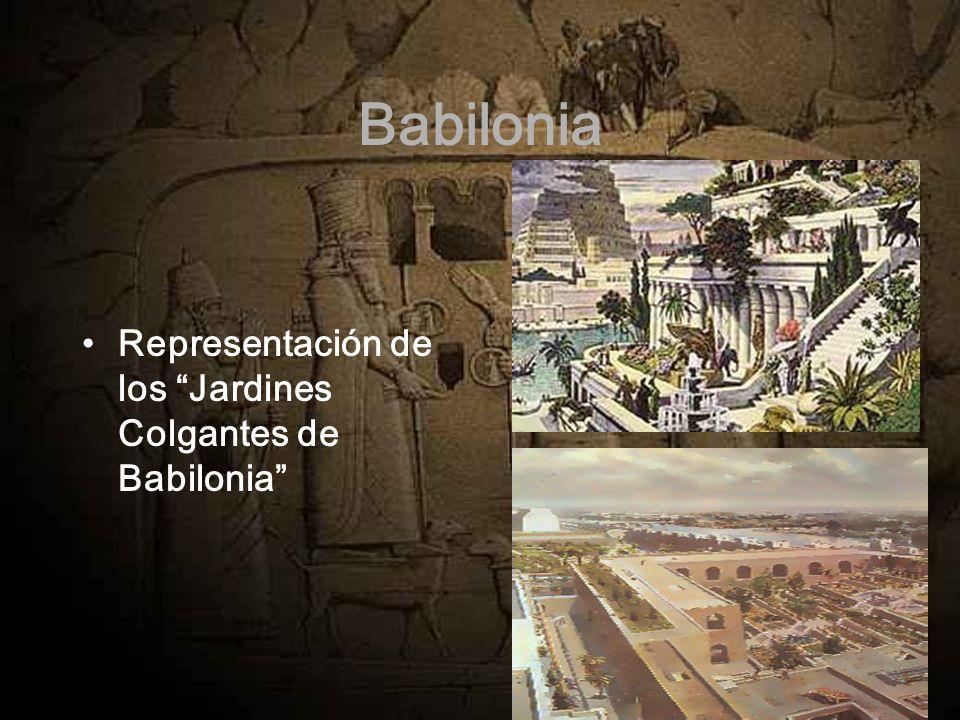Babilonia Representación de los Jardines Colgantes de Babilonia