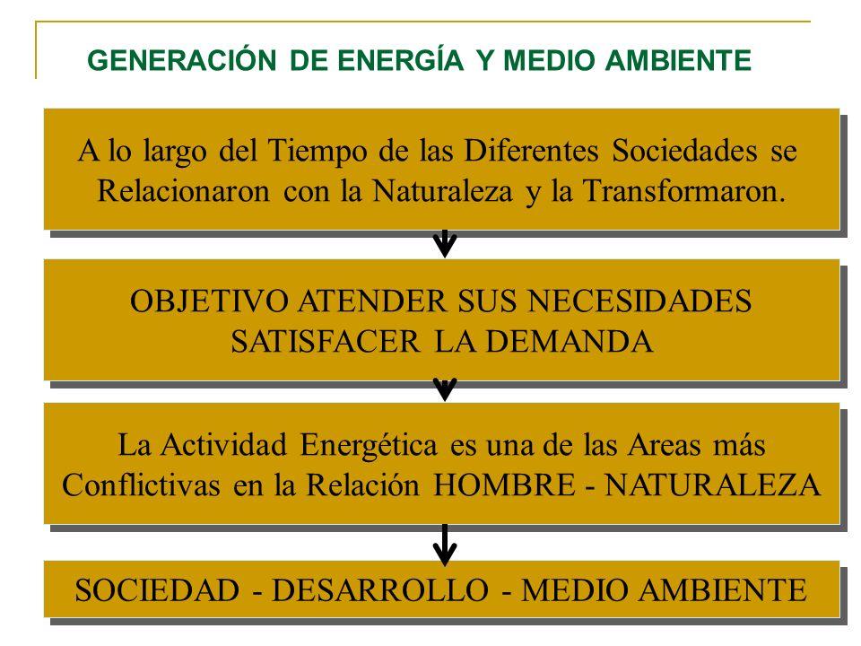 GENERACIÓN DE ENERGÍA Y MEDIO AMBIENTE A lo largo del Tiempo de las Diferentes Sociedades se Relacionaron con la Naturaleza y la Transformaron. A lo l