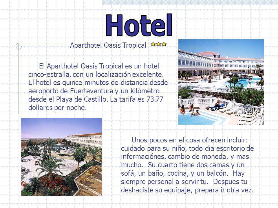 Aparthotel Oasis Tropical El Aparthotel Oasis Tropical es un hotel cinco-estralla, con un localización excelente. El hotel es quince minutos de distan
