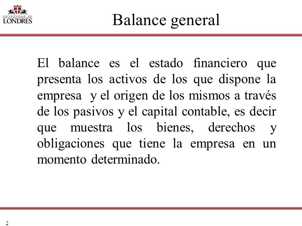 2 El balance es el estado financiero que presenta los activos de los que dispone la empresa y el origen de los mismos a través de los pasivos y el cap