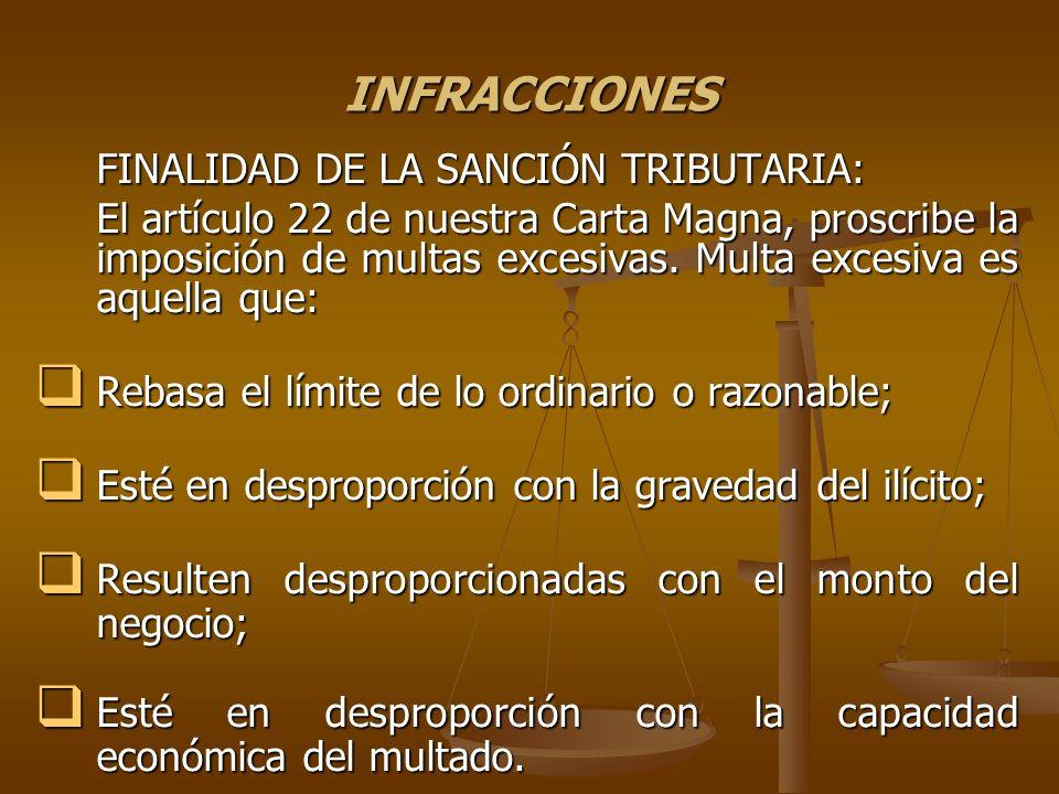 INFRACCIONES FISCALES MAS COMUNES.MULTA.